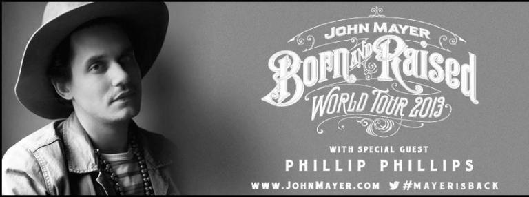 john mayer born and raised tour