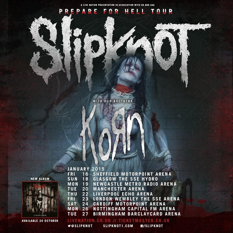 Slipknot 'Prepare 4 Hell' + Korn – Circlekj