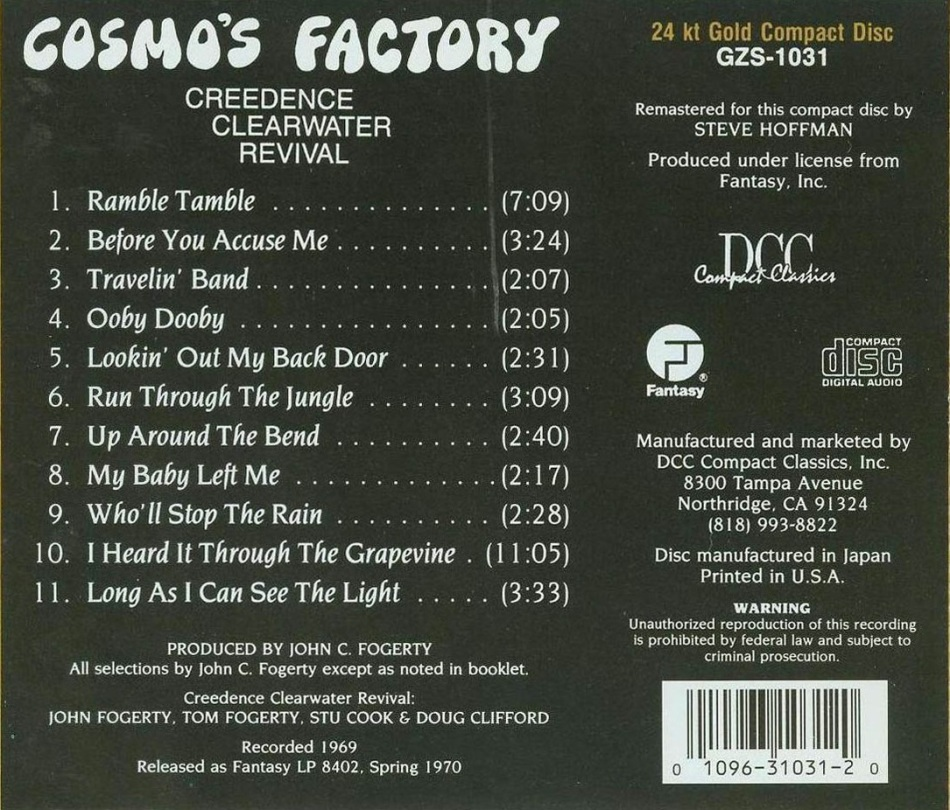 Creedence Clearwater Revival - Cosmo_s Factory (backcd)