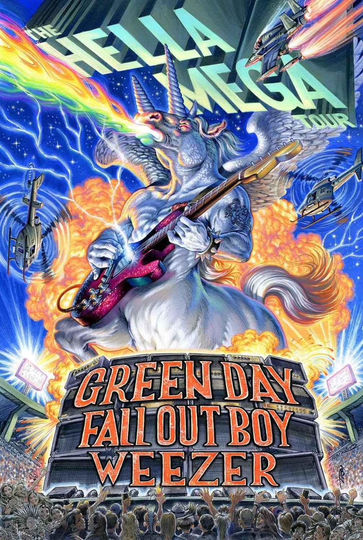 Weezer Tour 2020.Hella Mega Tour 2020 Greenday Falloutboy Weezer